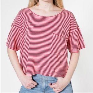 American Apparel Striped Crop Top